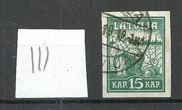 LETTLAND Latvia 1919 Michel 26 Vertically Ribbed / Senkrecht Geripptes Papier O - Lettonia