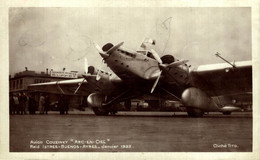 TRES RARE Avion Couzinet Arc En Ciel Raid Istres Buenos Ayres 1933 HISPANO SUIZA 650 CV - 1919-1938: Between Wars