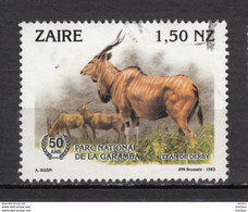 ##17, ZAire, 1993, Parc De La Gamba, Park, élan, Gibier - 1990-96: Used