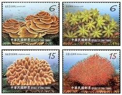 Taiwan 2018 Corals Stamps (IV) Coral Ocean Sea Marine Life Fauna Fish - Nuevos