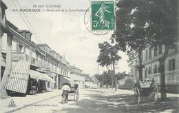 """CPA FRANCE 46 """" Gourdon, Bld De La Sous Préfecture """" - Gourdon"""