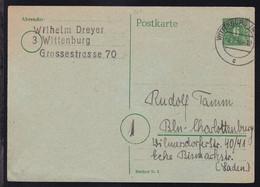 Mecklenburg-Vorpommern 6 Pfg. Ab Wittenburg (Meckl) 8.2.46 Nach Berlin- - Zona Soviética