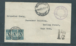 S.Africa, TRISTAN DA CUNHA, CAPETOWN PAQUEBOT 15 MAR 48,  Postage Due 1/2d Unit Of 3,CAPETOWN 16 MR 48, - Postage Due