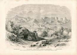 Original Antique Print 1860 France Drôme Dauphiné Roumeyer Valley Alps Saint-Genis Saint Justin Glandaz - Estampes & Gravures