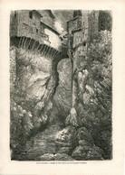 Original Antique Print 1860 France Pont-en-Royans - Estampes & Gravures
