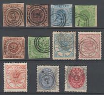 Dänemark , 11 Klassische Briefmarken , Michel Ca 500.- - Used Stamps
