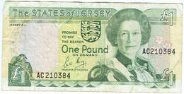 Jersey - Billet De 1 Pound - Elizabeth II - Non Daté - P15a - 1 Pond