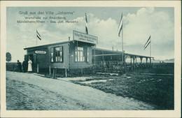 AK Mündelheim/Rhein Gruß Aus Der Villa &#34Johanna&#34. Wartehalle Zur Rheinfähre (2-427) - Duisburg