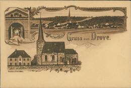 AK Kreuzau-Drove Drover Burg, Total-Ansicht, Kirche U. Pfarrhaus (3-968) - Other