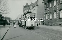 AK Castrop-Rauxel, Straßenbahn Linie 32 Weiche Schwerin Echtfoto, Abzug Ca. 1970er Jahre, Format Ca. 13,5 X 9,5  (6,75) - Castrop-Rauxel