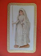 Image Pieuse Religion Catholique +ou- 1910 - Communiante  - Chromo Gaufrée  Relief - Religion & Esotericism