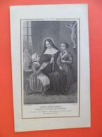 Image Pieuse 1867 Religion Catholique Sainte Angèle MERICI Ordre Des Ursulines Gravure Letaille - Religion & Esotericism