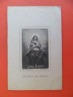 Image Pieuse +ou- Vers 1880  Religion Catholique Saint Coeur De Marie  Gravure Letaille - Religion & Esotericism