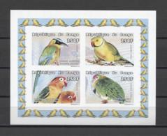 Congo Birds Parrots Oiseaux Pájaros Vögel Uccelli 1999 Mi#1613-1616B MNH - Parrots