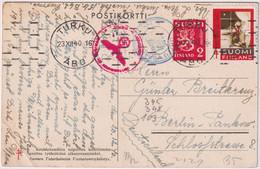 Postcard From Finland To Germany, Wehrmacht Obercommando Censorship Seal, 1940 - Brieven En Documenten