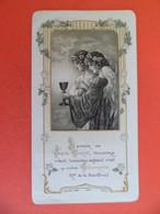 Image Pieuse 1919 Religion Catholique Gaufrée Gravure Bouasse N°1173 Communion Chapelle St. Thomas D'Aquin Toulouse - Religion & Esotericism