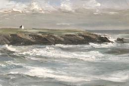GEORGES LAPORTE - Maison Sur La Côte Bretonne - Paintings