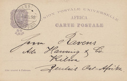 Mocambique 1898: Post Card To Kilwa/DOA, Deutsch Ost Afrika - Mozambique