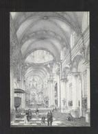 NINOVE - (RETRO) -  BINNENZICHT VAN DE O.L.-VROUWEKERK - (LITHO 1849)  (4644) - Ninove