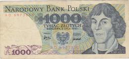 Pologne - Billet De 1000 Zlotych - Mikolaj Kopernik - 2 Juillet 1975 - P146a - Poland