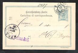 AUSTRIA Postal Stationery Mi. P 137 Sent 1900 TRIEST To HOF   BAHNPOST /TRAINCANCELLATION F.P.A. Triest-Wien No 11 - Stamped Stationery