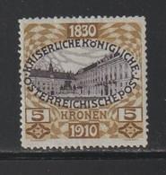 Autriche - YT N° 134 Neuf* (cote 150 Euros) - Nuevos