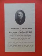 Image Pieuse 1929 Décès Estelle FEGUETTE - Tertiaire De St. Dominique - Guerie En 1878 à PELLEVOISIN Indre -Miraculée - Religion & Esotericism