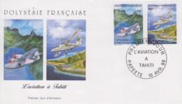 Enveloppe  FDC  1er  Jour  POLYNESIE   L' Aviation  à   TAHITI   1998 - FDC