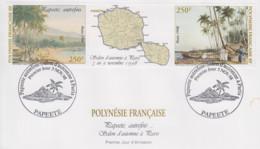 Enveloppe  FDC  1er  Jour  POLYNESIE   PAPEETE  Autrefois   1998 - FDC