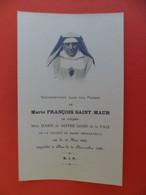 Image Pieuse 1936 Décès Soeur Marie FRANCOIS SAINT MAUR - Mère Marie De Notre Dame De La Paix Société Marie Réparatrice - Religion & Esotericism