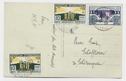 ARTS DECORATIFS 10CX2+25C CARTE CONCORDANTE PARIS 1925 POUR SUISSE - 1921-1960: Moderne