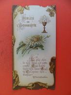 Image Pieuse 1906 1ère Comminion Eglise Cathedrale Saint Nazaire à BEIERS Herault - Ed. Bouasse Lebel Perles Eucharistie - Religion & Esotericism