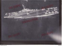 Au Plus Rapide Beau Format US Navy USS Antietam Porte-avions Classe Essex 1955-1956 - Guerre, Militaire
