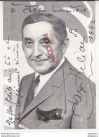 Au Plus Rapide Photo Dédicace Autographe Jacques Hélian Chef D'orchestre Pour Jean Lumière Chanteur Arménie - Dédicacées
