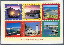 °°° Cartolina - Civitavecchia Vedute Viaggiata (l) °°° - Civitavecchia