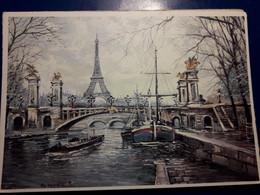 GEORGES B    BERNARD GEORGES PARIS PONT ALEXANDRE III - Paintings