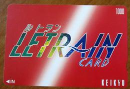 GIAPPONE Ticket Biglietto  City Train - Keihin Keikyu Railway - Letrain Card 1.000 ¥ - Usato - World
