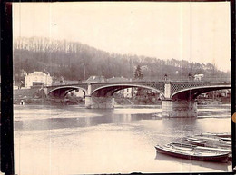 Photo ANCIENNE 1900 Chènevières Sur Marne 93 Le Pont Les Barques Restaurant Bainville - Non Classés