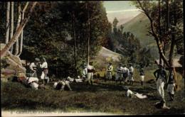 CPA Hautes Alpes, Chasseurs Alpins, La Halte Des Chasseurs Dans La Montagne - Altri Comuni