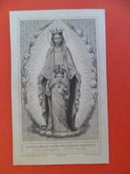 Image Pieuse Religion Catholique +ou-1850 - Notre Dame Du Sacré Coeur - Gravure Buland - Piere Approuvée Par Pie IX - Religion & Esotericism