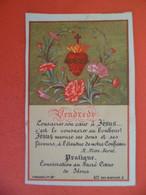 Image Pieuse Chromo Religion Catholique +ou-1890 Vendredi - Coeur De Jesus Ed. Bouasse N° 477 - Religion & Esotericism