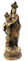 Statue De La Vierge à L 'enfant En Platre Ou En Ceramique XIXéme - Autres