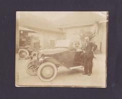 S1265 -  Photo Albuminée - Voiture Ancienne àidentifier - 5,5x 6,5,cm - Automobiles