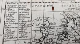 Antique Map Of Scotland 1797 Orginal- - Carte Geographique