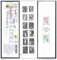 FRANCE / 2013 / Y&T N° 4781/4792 ** + 4767 ** + 4774 ** = Carnet N° 1520A ** : (Mariannes Vème République Gommées) - Conmemorativos