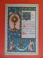 Image Pieuse 1886 Chromo Religion Catholique 1ere Communion à CAOUSOU Toulouse Albert De Guillebert Des Essars Bouasse - Religion & Esotericism