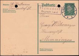 Landpost Trumsdorf Bayreuth Land Auf Postkarte P 181I, BAYREUTH (LAND) 30.5.1932 - Lettere