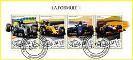 Bloc Oblitéré De 4 T.-P. - Équipes Mercedes-AMG Petronas, Renault Sport F1, Sauber F1, McLaren Racing - Djibouti 2018 - Yibuti (1977-...)