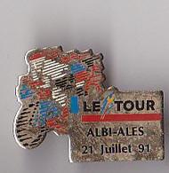 PIN'S THEME SPORTS / CYCLISME TOUR DE FRANCE  21 JUILLET 1991  ALBI  ALES   PINS RARE - Ciclismo
