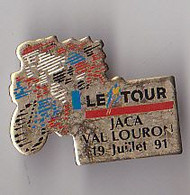 PIN'S THEME SPORTS / CYCLISME TOUR DE FRANCE  19 JUILLET 1991 VAL LOURON - Ciclismo